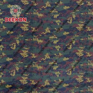 100% Polyester Green Digital Camo Fabric for Myanmar Police Ballistic Vest Supplier