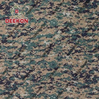100% Polyester Woodland Digital Camo Fabric Manufacturer for Police Ballistic Vest