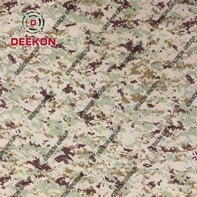 Supplier 100% Polyester Kuwait Desert Digital Camo Fabric for Police Ballistic Vest