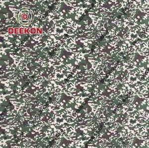 Malaysia 1000D Nylon Woodland Digital Camo Synthetic Fabric for Army Backpack Company