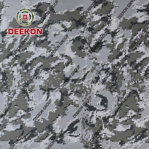 Manufacturer 100% Nylon PU Coated Grey Camo Fabric for Bulletproof Vest