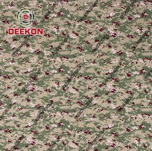Manufacturer 1000D Nylon Woodland Digital Camo Synthetic Fabric for Army Backpack