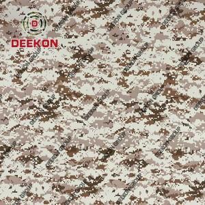 Manufacturer Saudi Arabia 100% Nylon PU Coated Desert Digital Camo Fabric for Bulletproof Vest