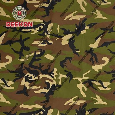 100% Polyester Bangladesh Army Woodland Poncho Fabric for Laser Cut  Supplier