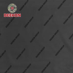 Supply 1000D Nylon 66 Black Laminated Synthetic Textile with Teflon IRR for Laser Cut Ballistic Vest