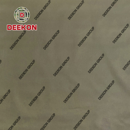 500D Khaki 100% Polyester WR Teflon Synthetic Fabric Supplier for Mid-East Military Plate Carrier