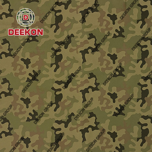 100% Nylon 6.6 500D Poland Panther Camo Synthetic Fabric with IRR WR PU Coated for Military Backpack