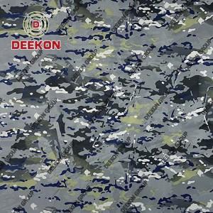 100% Nylon 190 T Blue Multicam Camo Synthetic Fabric for Republic of Montenegro Navy Raincoat
