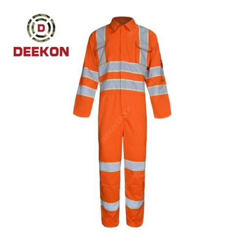Deekon Military Coverall Factory Orange Reflective Tape Flight Suit Fire Retardant Military Uniform