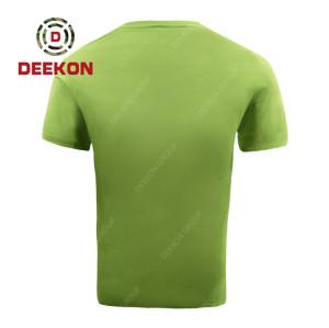 military shirt supply High Qualified Army Green Shirt Tactical Cotton T-shirt Short Sleeve Shirt