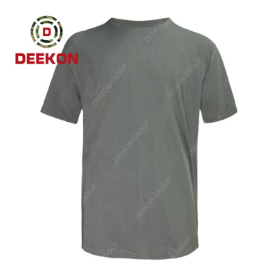 Deekon military shirt factory Supply for Grey Color Quick Dry Breathable T Shirts 100% Polyester