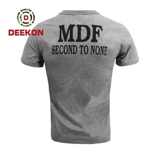 Deekon military factory Cheap Short Sleeve Shirt 100% Cotton t Shirt for Malawi Military