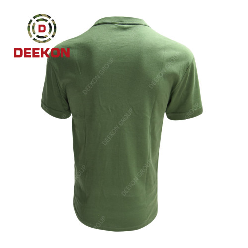 military shirt manufacture New Design OEM Summer Breathable Cotton Short Sleeve Shirt