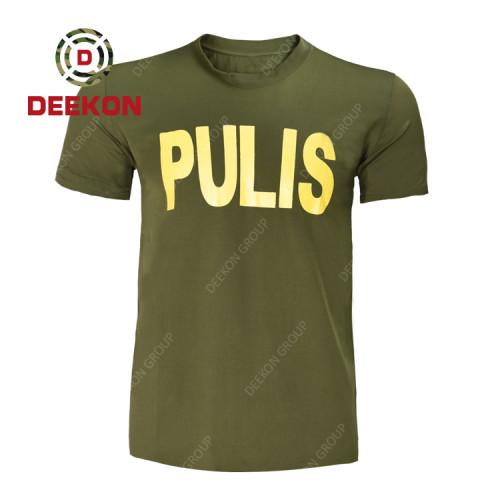 China military shirt supply High Quality Philippines Cotton T shirt Printing LOGO Short Sleeve