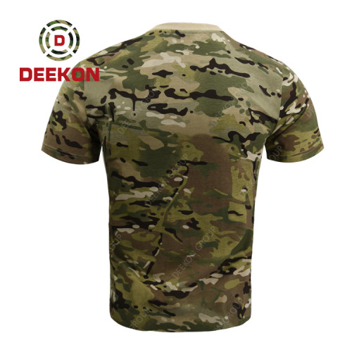 Deekon Factory Supply for 100% Cotton Camouflage Multicam Camo T shirt