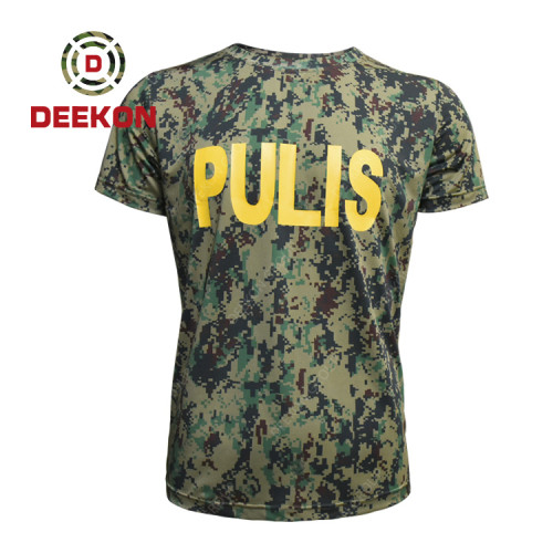 Military shirt supply Woodland Digital Camouflage with Printed LOGO for Philippines Army