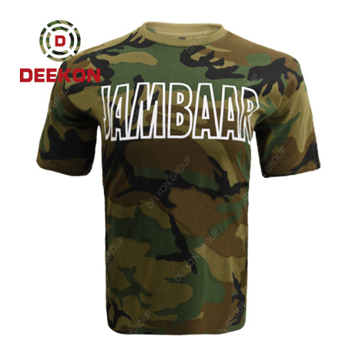 Deekon shirt factory Senegal Camouflage Printed LOGO Sport T Shirt Men Quick Dry Fit Running T-Shirt