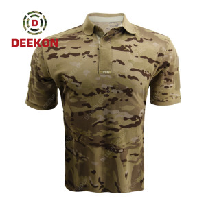 Deekon military shirt manufacture Serbia Customized High Quality Desert Camouflage Shirt polo collar