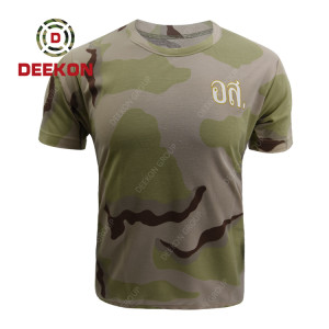 military shirt factory Three Color Desert Camouflage Combat Shirt for Thailand Military Army