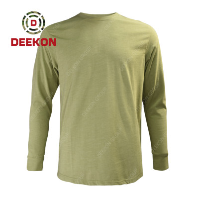 China Military Manufacture Large Size S-5XL Cotton Long Sleeved Men Undershirt tide shirt