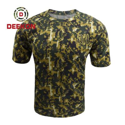 Deekon Military shirt factory Digital Camouflage 100% Cotton Tshirt for Thailand Army