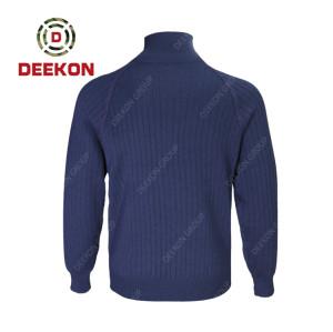 Deekon Military shirt factory Navy Blue 100% Cotton long sleeve Shirt