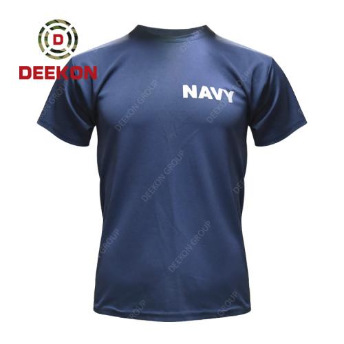 Deekon Military shirt factory Navy Blue 100% Cotton short sleeve Tshirt for Ghana