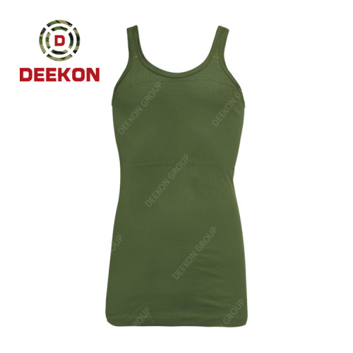 Deekon military shirt manufacture Army Green 100% Cotton Vest Tshirt for Kenya
