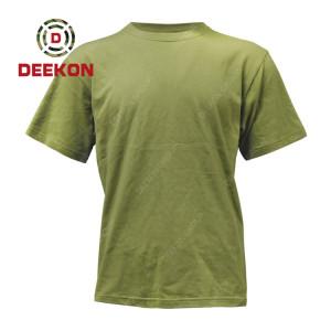 Deekon Military shirt supply Breathable Lightweight 100% Cotton short sleeve Tshirt for Malawi