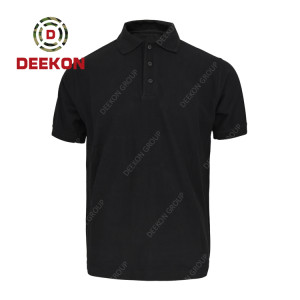 Deekon Military shirt supply Black Color 100% Cotton short sleeve Tshirt for Uganda
