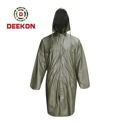 Military Raincoat Supply Rainwear for Adults 100% Waterproof Unisex Hooded Raincoat