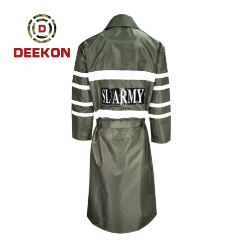 Deekon Raincoat supply Military Rain Jacket Rainwear for Sri Lanka Army with Reflective tape