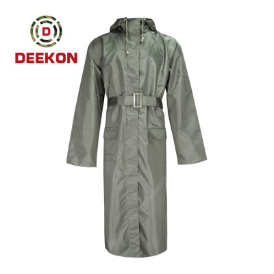 Military Raincoat factory with Belt for Outdoor Working and Military Sri Lanka Police Rescue Use