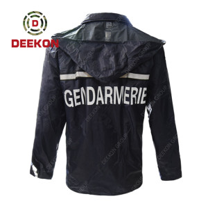 Military Waterproof Raincoat supply 100% Polyester with PU coated Rainwear for Senegal Army Police