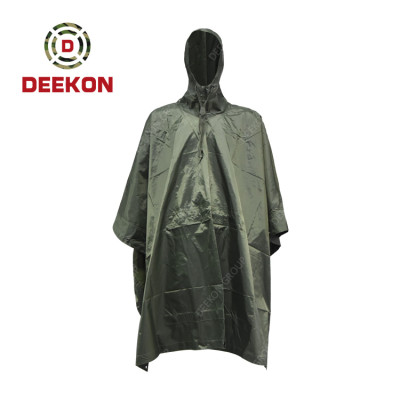 Deekon military Army Green 100% Polyester Poncho factory Rainwear for Kenya