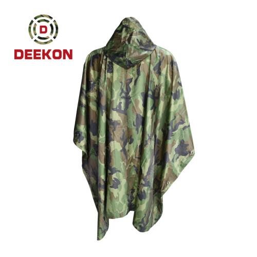 Deekon Poncho Manufacture for Military Army Camouflage Nylon Rain Poncho