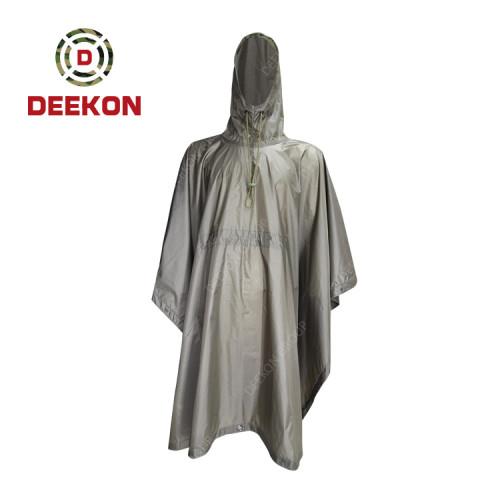 Deekon Military Poncho factory Style Rain Coat 100% Oxford  Waterproof Men Police