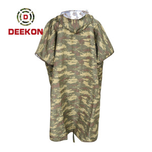 Turkey Camouflage Poncho factory Outdoor Style Light Weight Military Waterproof Raincoat