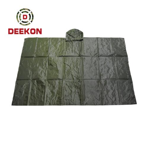 Deekon Poncho Factory Military Heavy Duty Waterproof Rain Poncho For Uganda Army