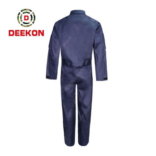 Deekon Military Coverall Manufacture Dark Navy Blue Flight suit Flame Retardant Military Uniform
