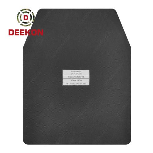 Deekon Manufacture NIJ IV Level 4 Silicon Carbide+PE Ceramic Bulletproof Plate