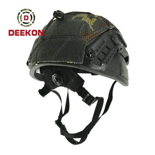 China Deekon Supply MICH Bulletproof Helmet With camouflage net cover