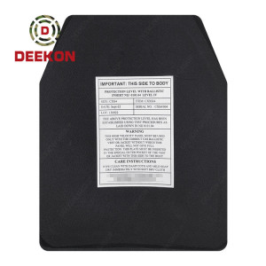 NIJ Level 4 / IV Boron Carbide Plate Factory Hard Body Armor Bulletproof Plate/Insert