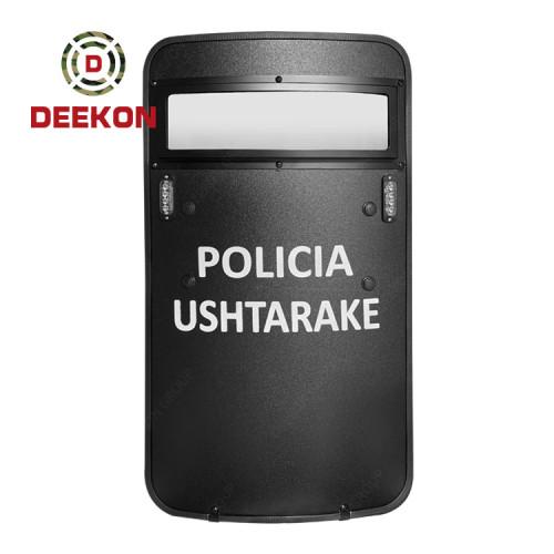 Deekon Factory Supply NIJ IIIA Bulletproof Shield Ballistic Shield with Led Light and Logo