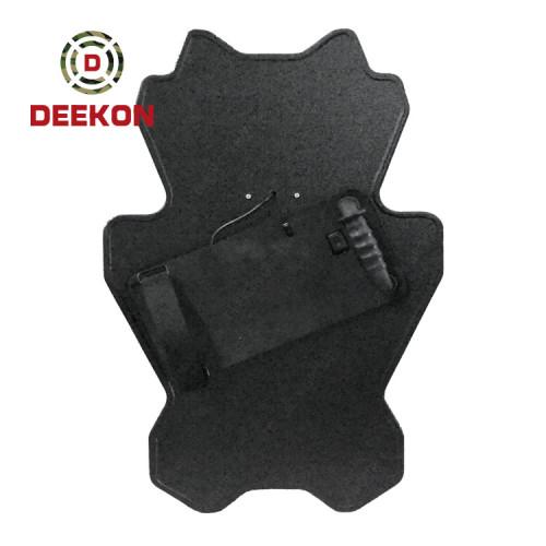 Deekon Factory Manufature NIJ IIIA Standard Bulletproof Shield Panda Shape Ballistic Shield with Led Light