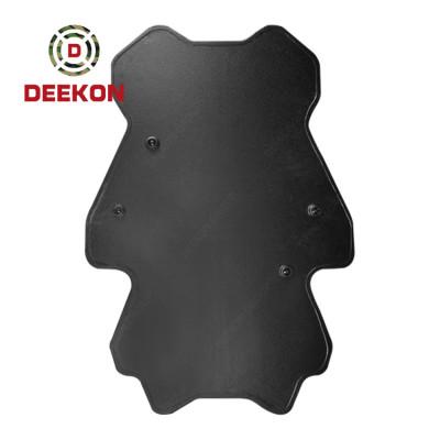 Deekon Factory Supply NIJ IIIA Standard Bulletproof Shield Panda Shape Ballistic Shield without Led Light