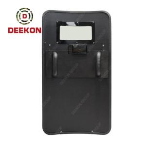 Deekon Factory Supply NIJ IV Stand Alone Bulletproof Shield Ballistic Shield with Led Light and Logo