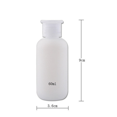 Sanle wholesale 2oz boston round HDPE plastic bottle with 18/410 neck finish, custom logo acceptable