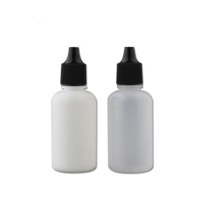 Sanle 30ml HDPE boston round essence oil bottle with screw cap
