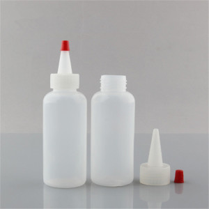 Sanle 60ml PE Boston round squeeze bottle with dropper